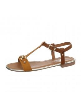 Sandale cu talpa joasa Fashion Camel