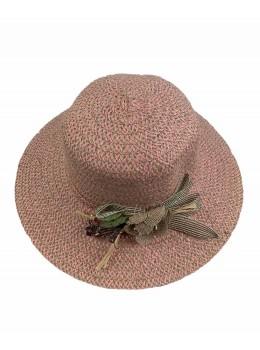 Palarie de vara Roz cu impletitura fashion
