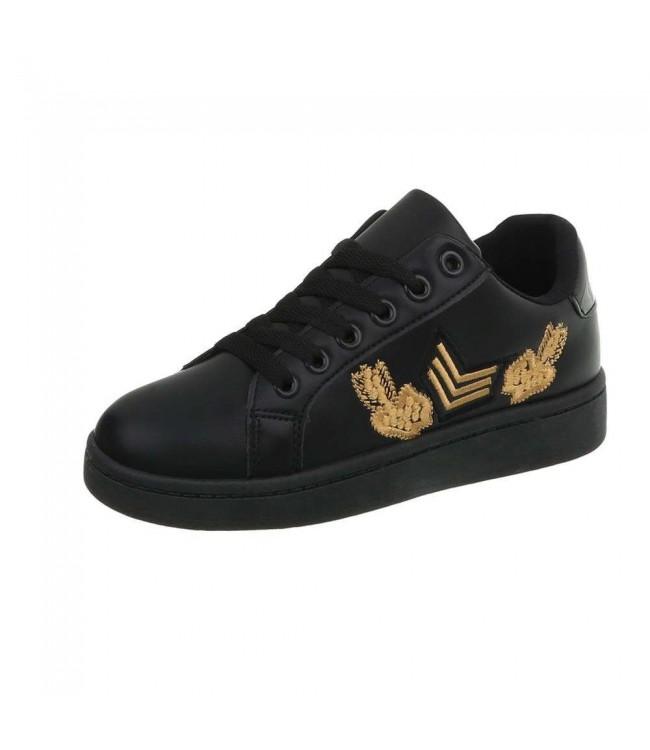 Pantofi sport Black Fashion cu imprimeu