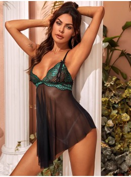 Chemise sexy Mesh Donna Black