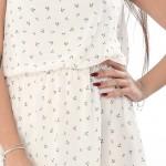 Rochie de zi albă cu imprimeu Mariner Life