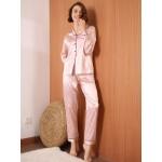 Pijama dama satin Fashion Pink Lines