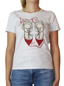 Tricou gri Jessie Fashion cu imprimeu