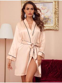 Halat satin Fashion Pink Pastel