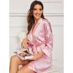Halat satin Fashion Pink Lines