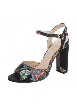 Sandale Fashion Black Floral Sergio Todzi