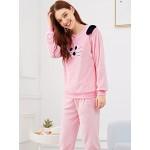 Pijama dama Fashion Cat Plush Pink