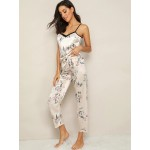 Pijama dama Fashion Satin Floral