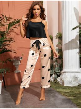 Pijama dama satin Fashion Black & Pink