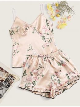 Pijama dama satin Summer Floral
