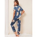 Pijama dama satin Fashion Floral Multicolor