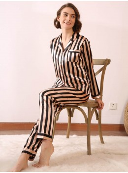 Pijama dama satin Fashion Black Lines