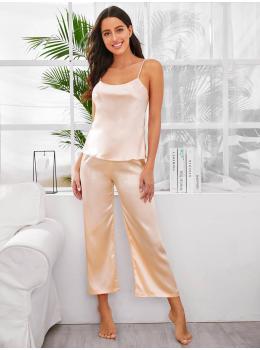 Pijama dama satin Fashion Pink Pastel