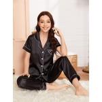 Pijama dama satin Fashion Black