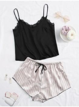 Pijama dama satin Summer Top Lace