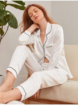 Pijama dama White Satin