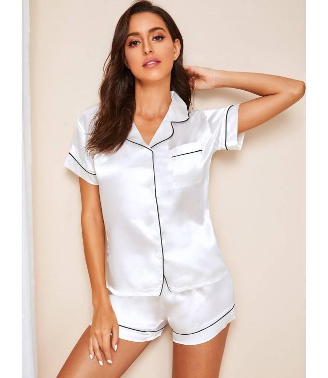 Pijama dama satin Summer White