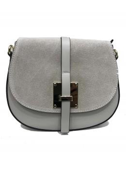 Poseta din piele naturala Grey Fashion