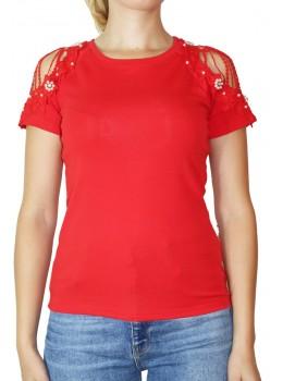 Tricou dama Rosu Fashion Violleta
