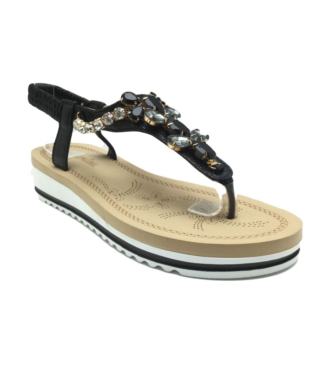 Sandale Donna Fashion Black cu pietricele