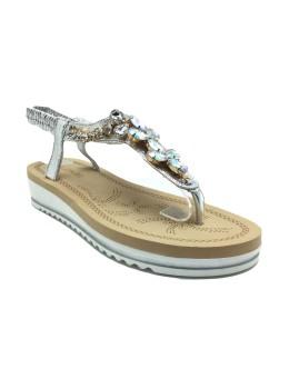 Sandale Donna Fashion Silver cu pietricele