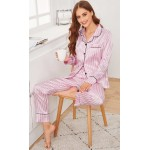 Pijama dama satin Fashion Trello Pink Lines