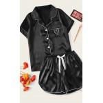 Pijama dama Fashion Black Satin