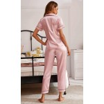 Pijama dama satin Fashion Pink