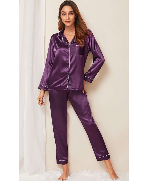 Pijama dama satin Fashion Violet